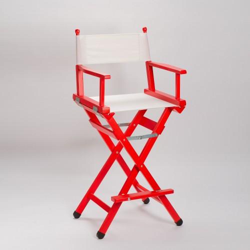 Sedia regista in legno colore rosso