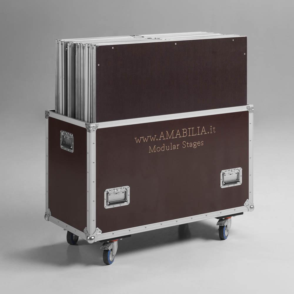flightcase per pedane modulari